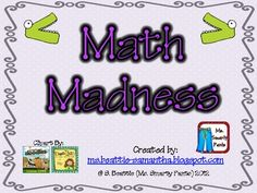 $12. Math Madness Calendar Common Core--Step up your calendar math skills with daily review with student response sheets.