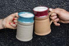 Christmas Gift for Husband / Pottery Beer Stein / Large Handmade Ceramic Beer Mug / Tankard / Pint Mug