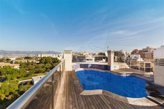 Ref. 31513  #duplex #mallorca #palma #immobilien #realestate #luxury #luxus #penthouse #dachgeschoss  Penthouse-duplex with swimming pool in center of Palma with 189,99 m2 terraces  Approx. 260 m2 constructed area, 3 living-dining/room, furnished/equipped kitchen, 3 double bedrooms, office, 3 bathrooms, 3 en suite, 2 guest toilet, cold/hot air conditioning, heating, marble/parquet floors, approx. 122,90 m2 and 56,60 m2 terrace, approx. 93,06 m2 sun terrasse, 2 garage place.