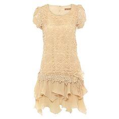 crochet lace tiered dress by jolie moi | notonthehighstreet.com