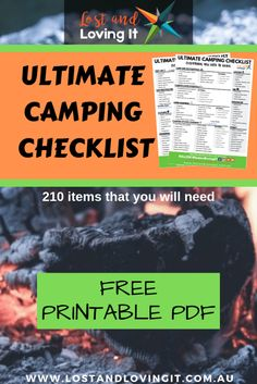 Are you planning to go camping? We just made you the biggest, most comprehensive camping list out there. We have everything you will ever need.  Lost and Loving It - lostandlovingit.com.au