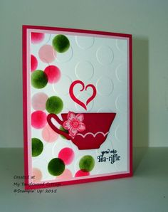 A Nice Cuppa, Stampin' Up! @ MyTanglewoodCottage