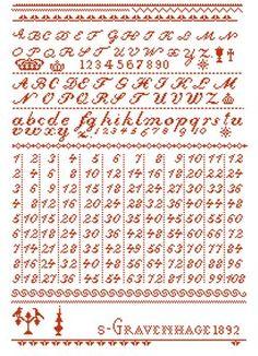 Needleprint Multiplication - free pattern