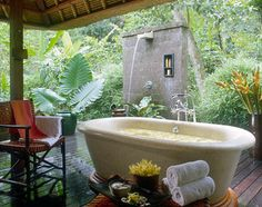 bath time at the Four Seasons in Bali. Probably as close to heaven as your passport will take you.