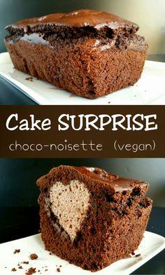 Cake surprise Choco-noisette vegan