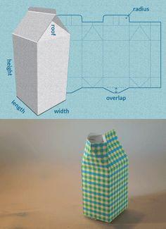 1cd37568c5a7 EASY MILK CARTON BOX TEMPLATE  You like the milk carton box idea ...
