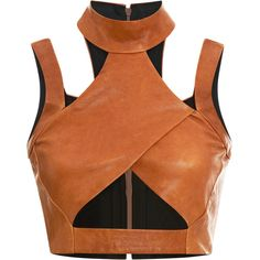 Alchemical Exercise clothing // Leather Cross Turtleneck by Jonathan Simkhai - Moda Operandi Look Fashion, Fashion Outfits, Womens Fashion, Fashion Design, Sleeveless Turtleneck Top, Sleeveless Tops, Turtleneck Shirt, Leather Crop Top, Leather Tops