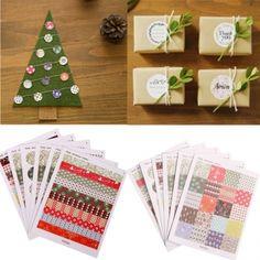 1 conjunto imprimir etiquetas florais adesivos DIY scrapbooking papel presente decoração - Banggood Móvel