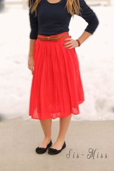Stitch fix stylist: I love the pop of color this skirt has! It just looks flowy and fun--like something you'd wear on a weekend or a girls' day out