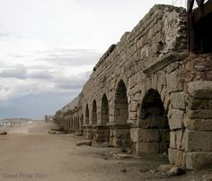 Caesarea, Israel. The Roman aqueducts.