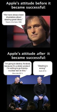 Apple's attitude before it became successful #apple #samsung cc @tcsjabella