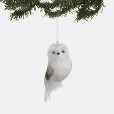 Christmas: Department 56 - White Feathered Owl Ornament