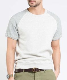 8583c0e926897 Short Sleeve Sweatshirt in Eggshell Mix Todd Snyder Champion