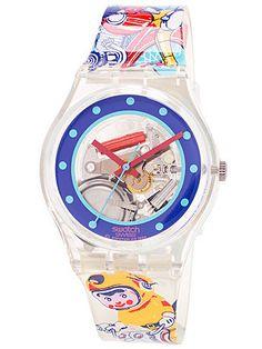 Vintage Swatch Tin Toy Watch