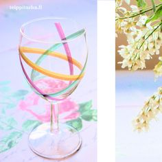 Glass decorating with masking tape