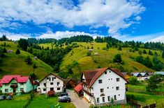 Photo about moeciu vilage green house camping hotel relax sky blue clouds. Image of brasov, green, moeciu - 97409401
