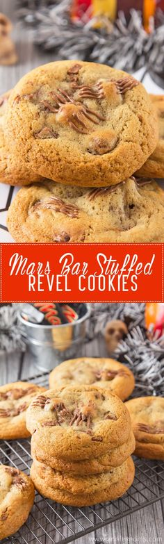 Thick, chewy cookies filled with all the flavours of Revels and stuffed with a big chunk of Mars Bar. #ad