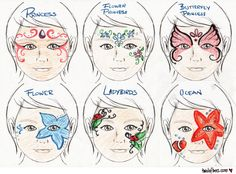 face painting menu 4 page bundle digital download pdf and