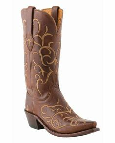 Women's Tan Fancy Stitch Ranch Hand Boot