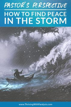 """How to Find Peace in the Storm """"""""We're gonna die!"""" you hear your friend scream above the loud crash of a wave as it slams into the side of your fishing boat. The small craft groans and creaks as it gets twisted and pushed in the water. Finding Jesus, Finding Peace, Canvas Awnings, Peace Of God, How Do You Find, Water Spray, Fishing Boats, Scream, Perspective"""