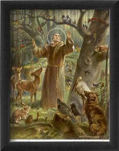 Saint Francis of Assisi A saint for animals is a true saint  He is my favorite. I pray to him for all the lost, neglected and abused  animals out there.