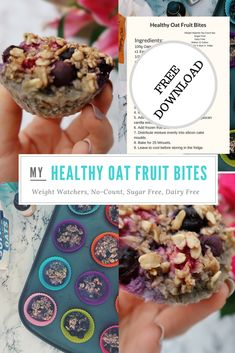Healthy Oat Fruit Bites. Weight Watchers. No count. Flex plan. Sugar free. Dairy Free. The perfect snack for busy mums and hungry children. Full of natural ingredients that will keep you satisfied. Click onto my website for a FREE DOWNLOAD of the recipe so you can easily make this at home! Slimming World Cheesecake, Hungry Children, Frozen Fruit, Easy Snacks, Healthy Alternatives, Meals For One, Love Food, Sugar Free, Dairy Free