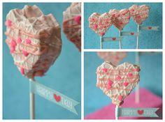 No Bake Heart Cakepop