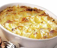 Kohlrabi-Kartoffel-Gratin - zwei Knollen, die es in sich haben! Cheeseburger Chowder, Macaroni And Cheese, Ethnic Recipes, Food, Oven Cooking, Vegetable Stock, Sprouts, Kitchens, Glutenfree
