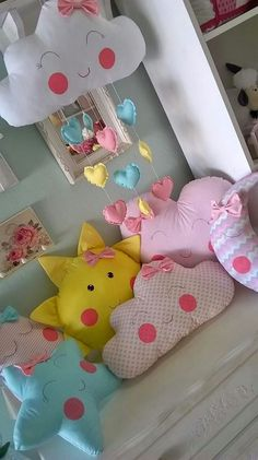 Trendy sewing toys for girls shower gifts 22 ideas Baby Sewing Projects, Sewing For Kids, Diy Shower, Shower Gifts, Diy Bebe, Sewing Pillows, Baby Pillows, Sewing Toys, Baby Decor