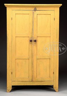 Best Blue Painted Stepback Cupboard 19Th C New England 400 x 300