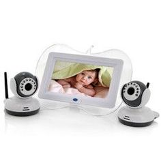 Wireless Baby Monitor w/ 2x Cameras
