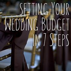 Check out this simple, 7 step guide to setting your wedding budget! Every bride should read this before they spend a dollar on their big day!