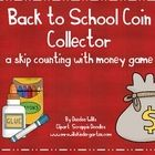 Your little sweeties will have a blast with this back to school math work station.  Using coins, students will practice counting by 1's, 5's, and 1...