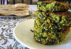quinoa & spinach veggie burgers
