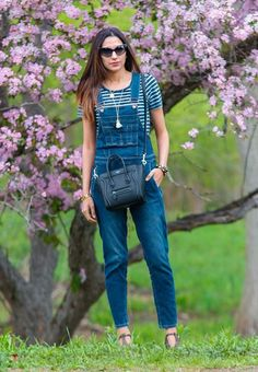 If you're sick of wearing your trusty boyfriend jeans over and over again, switch them up for some overalls instead.