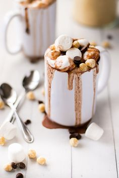 Ingredients: Serves: 4  Nutella Hot Chocolate: 4 cups low fat/skim milk 2 tablespoons Nutella, a chocolate hazelnut spread (or any hazelnut cacao spread) 2 tablesp