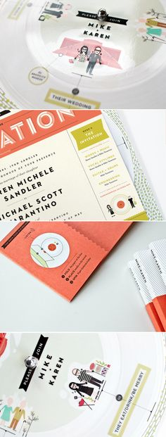 Layout of this invitation, with side panel to give details on activities.