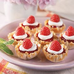 Summer Berry Tartlets Recipe | MyRecipes.com