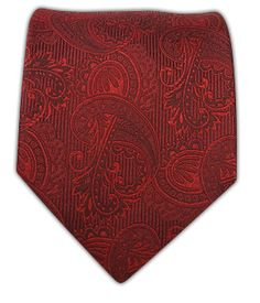 Twill Paisley - Crimson $15