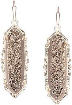 Kendra Scott Fran Earrings in Rose Gold Drusy