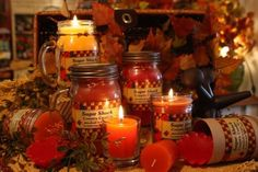 Sugar Shack candles.  These are great candles.  My family has been using these for years.  They're so fragrant and last a long time.  Cotton Blossom is lit right now & our entire living room smells like fresh clean laundry.  Love it!