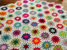 HEXIGAN Crochet Blanket and Shawl  Cuddle blanket (nannycheryl original) ID 798 £49.00