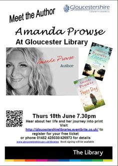 Amanda Prowse author visit to Gloucester Library 18 June, ticketed event
