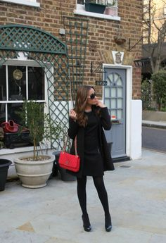 LBD  , Purificacion Garcia in Bags, Mango in Dresses, Zara in Heels / Wedges, Chanel in Glasses / Sunglasses, H in Coats