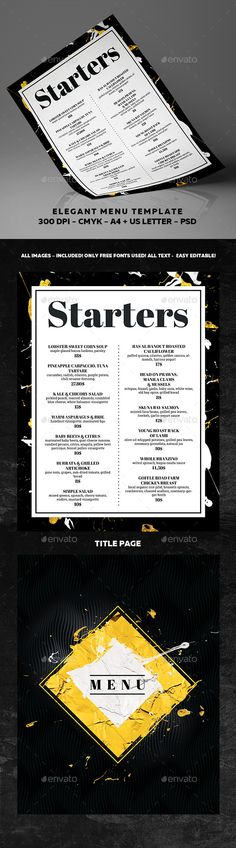 Food Menu - food menu template