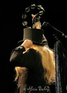 """Fleetwood Mac fans know that the top hat Stevie Nicks wears onstage during """"Go Your Own Way"""" has a story too: """"This hat is so important to the Queen of Rock, Stevie says it has its own roadie! The """"Top Hat"""" is from the 1920's, and she says there isn't another one like it. The hat has its own box & is always protected.  A roadie personally brings her the hat from backstage when Stevie sings that song.""""  STEVIE, I WANT THAT GIG…"""