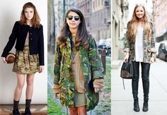 2 Cute Ways to Wear Camo Print for Fall