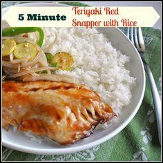 5 minutes teriyaki snapper and rice