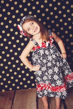 Kanzashi Summer Dress, Girls Sewing pattern, Pattern Pdf-