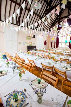 Lovely Village Hall Wedding - love the bunting at this one too :)  www.helpinghandswedding.co.uk